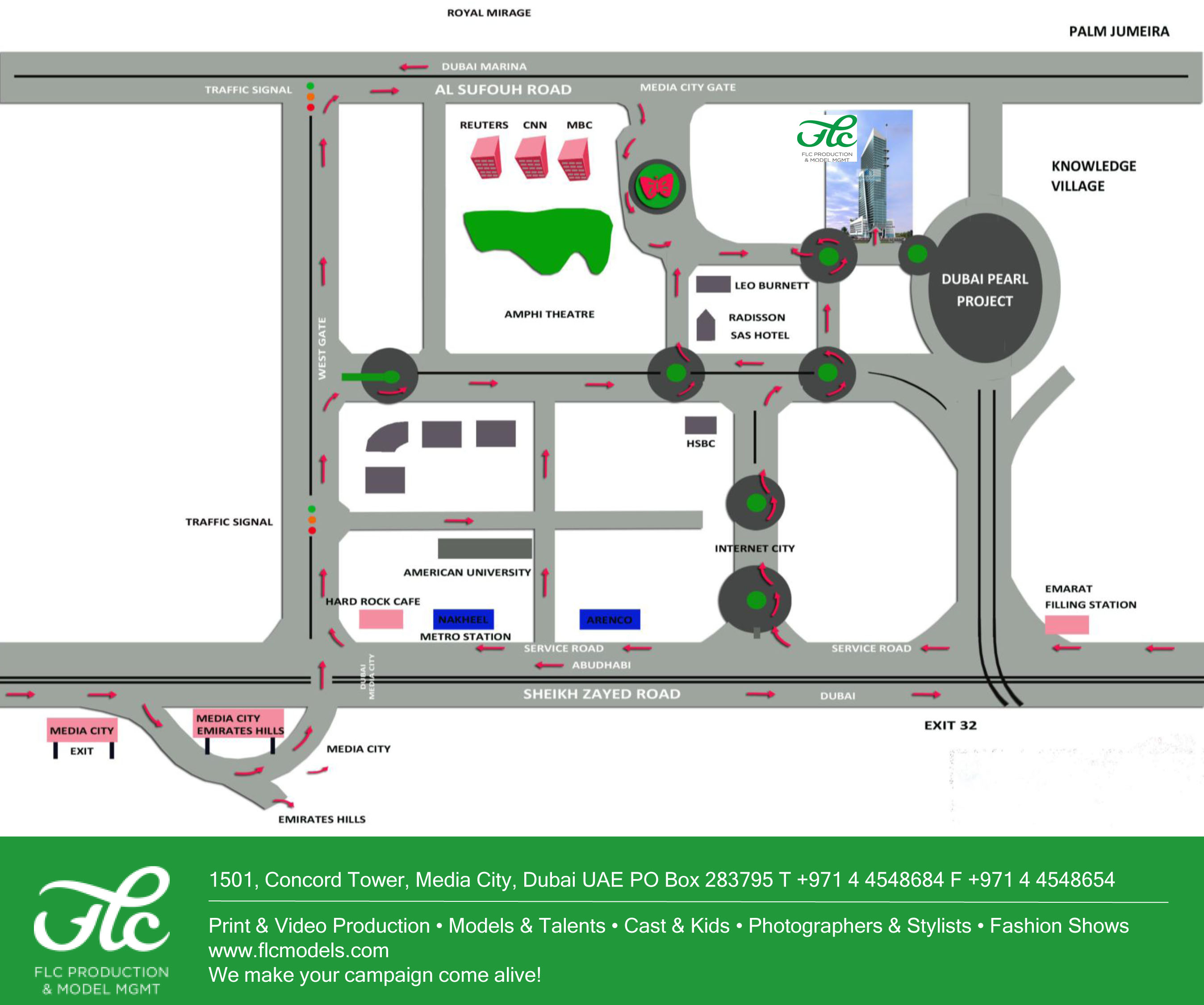 FLC Models & Talents - Location map