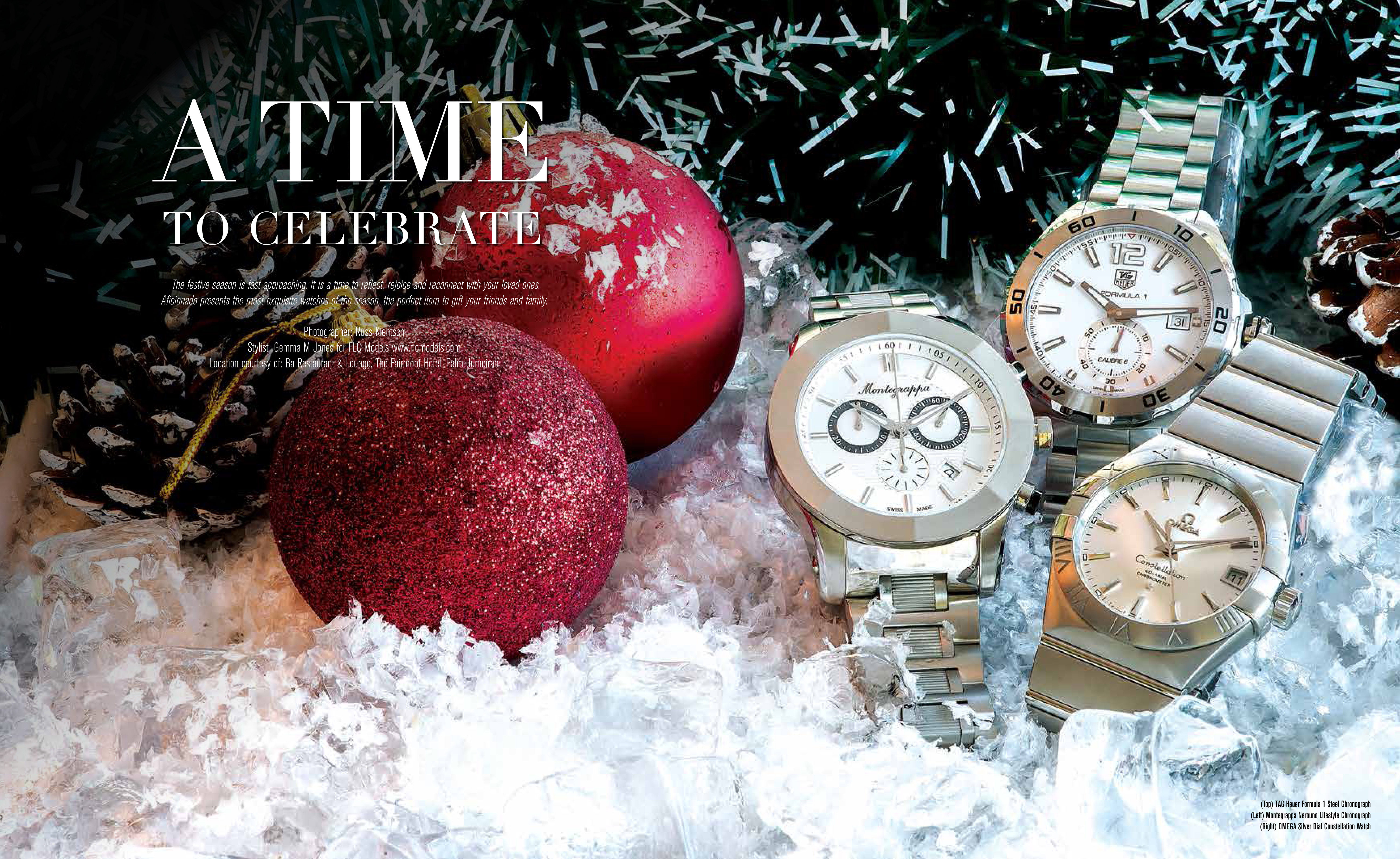 FLC Models & Talents - Catalogue Shoots - Aficionado Magazine - Winter Watches