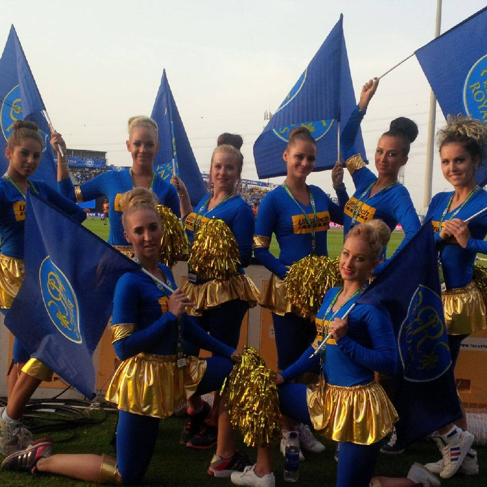 FLC Models & Talents - Print Campaigns - Cheerleaders for Rajasthan Royals at IPL