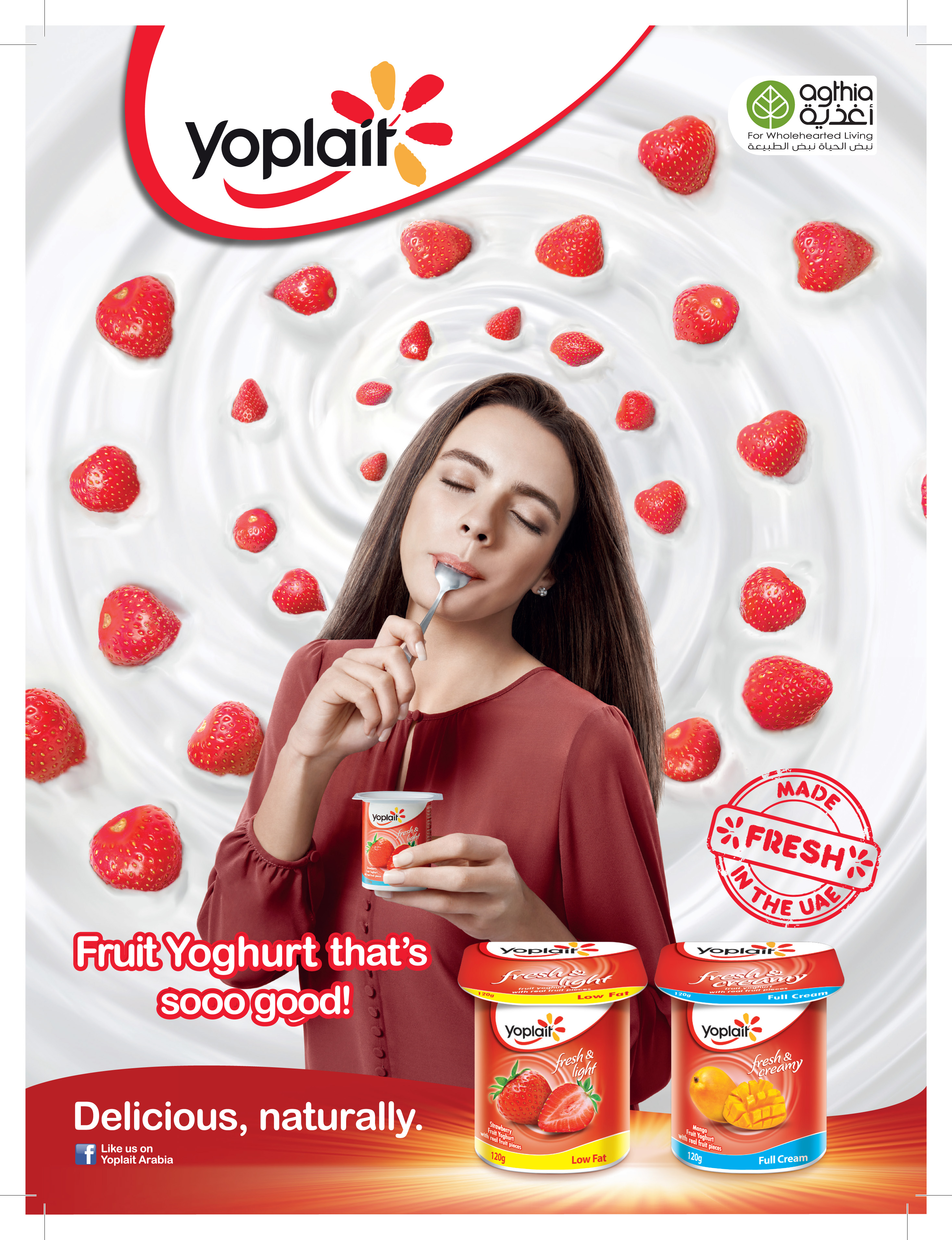 FLC Models & Talents - Print Campaigns - Yoplait yogurt 2015